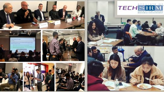 photo collage of student group TechSHRM