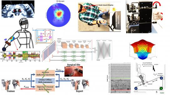 images and diagrams that show robotic interactions with the human body